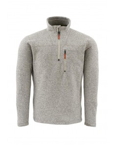 Simms Fishing Rivershed Sweater 1/4 Zip Pull Over